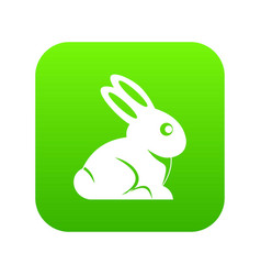 easter bunny icon digital green vector image