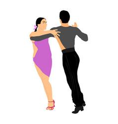 elegance tango latino dancers couple in love vector image