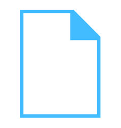 file type icon empty sign vector image