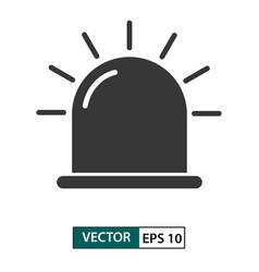 Flasher alarm siren icon isolated on white eps 10 vector