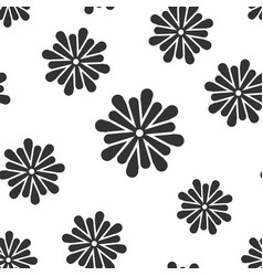 flower leaf icon seamless pattern background vector image