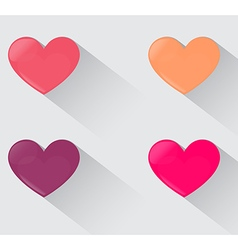 Four Hearts Sweet Color Time for Love vector image