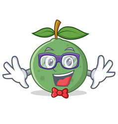 Geek guava character cartoon style vector