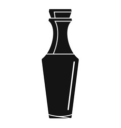 glass bottle icon simple style vector image
