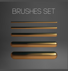 gold brush mesh isolated texture abstract vector image