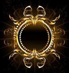 Golden Tribal Frame vector image