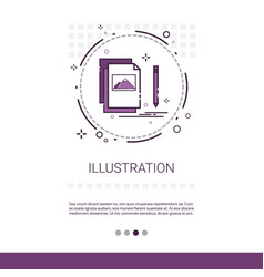 Graphic design development computer vector