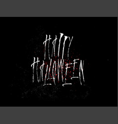 happy halloween hand drawn sign vector image