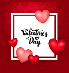 happy valentines day paper card vector image