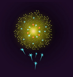 holiday gold fireworks on a blue vector image