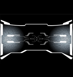 hud hi tech futuristic white elements security vector image