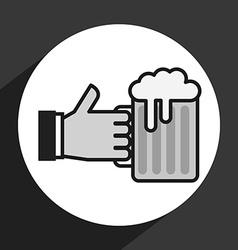 ice beer vector image