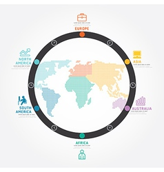 infographics world business concept design diagram vector image