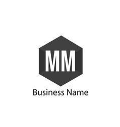 Initial letter mm logo template design vector