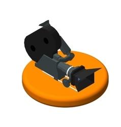 Isometric icon movie camera Pictograms Video vector image