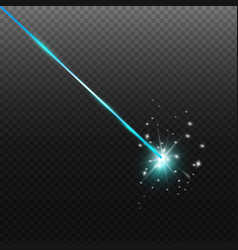 laser security beam isolated on dark background vector image