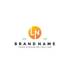 Letter ln logo design vector