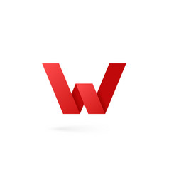 Letter w logo alphabet on white background vector