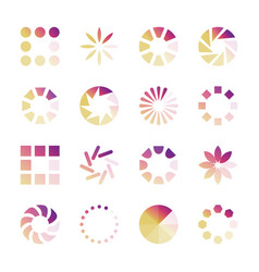 load indicators collection loading icons vector image
