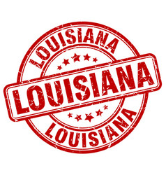 Louisiana red grunge round vintage rubber stamp vector