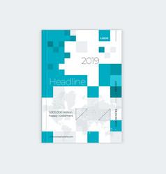 minimalistic brochure template design vector image