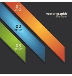 Modern Option Banner vector image