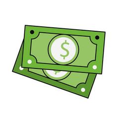 Money cash billets isolated vector