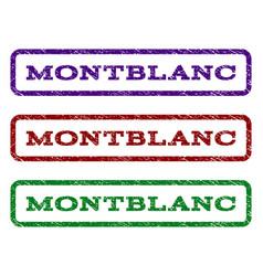 Montblanc watermark stamp vector