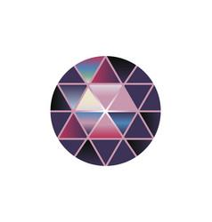 multi color gem stone round diamonds on vector image