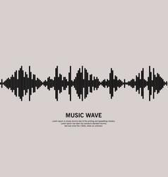 Music wave logo vector