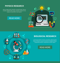 Natural-science researches vector