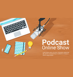 Online show flat vector