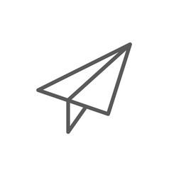 paper plane post communication line icon vector image