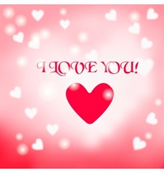 Postcard with a heart on a light background with a vector image