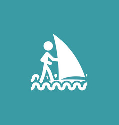 sailing icon simple sportsman element ship vector image