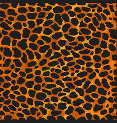 seamless leopard ocelot or wild cat fur pattern vector image
