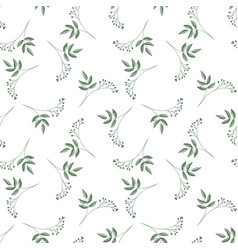 seamless pattern with cute tiny flower branches vector image