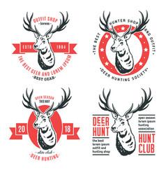 set of logos deer vector image