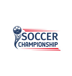 soccer or football sport game competition symbol vector image