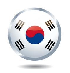 south korea flag vector image