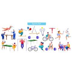 sport flat set vector image