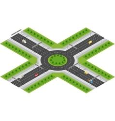 Transportation City streets vector