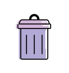trash can symbol icon vector image