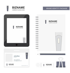 trimmer business logo tab app diary pvc employee vector image