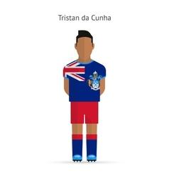 Tristan da cunha football player soccer uniform vector