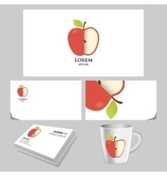 Unusual apple logo vector image