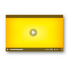 Video player interface play bar design vector
