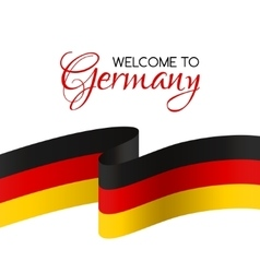 welcome to germany card with flag germany vector image