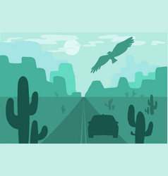 wild west scene vector image