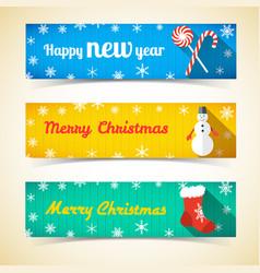 winter holidays horizontal banners vector image
